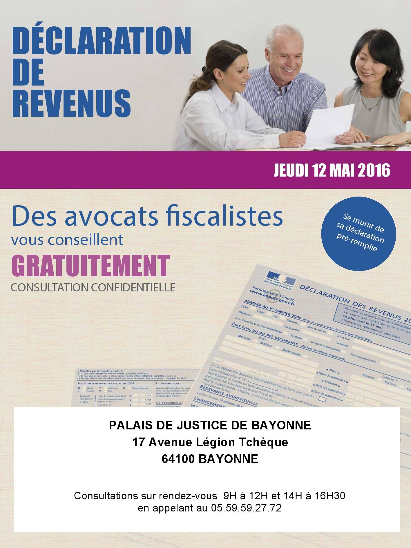 Journée avocats fiscalistes Ordre des avocats de Bayonne